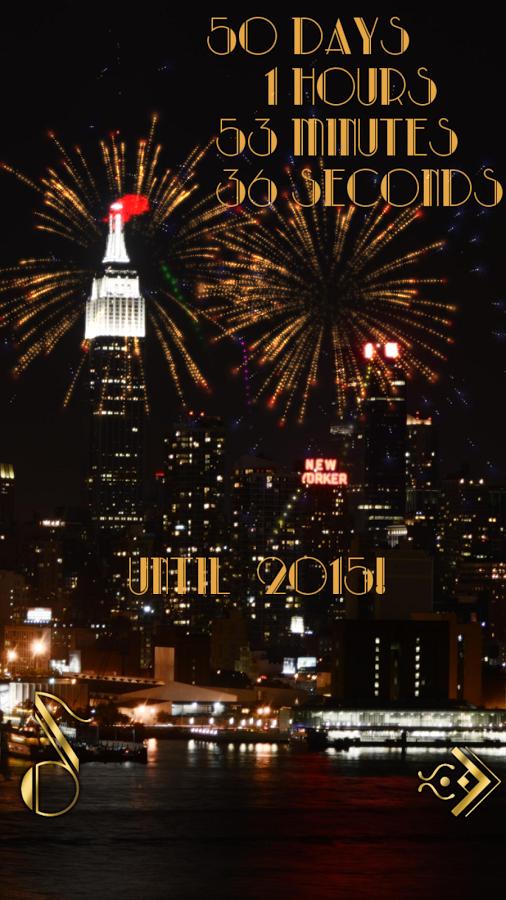 festive new year's countdown