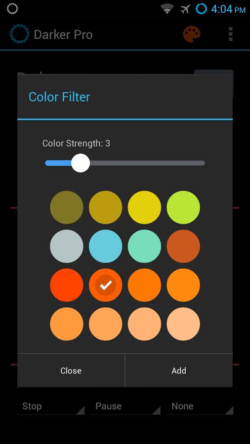 darker screen filter