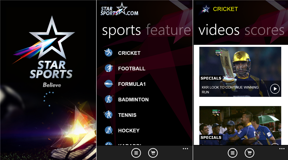 starsports cricket scores