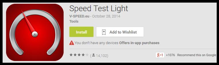 Speed Test Light