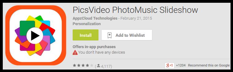 PicsVideo PhotoMusic Slideshow