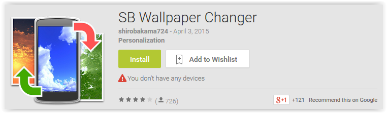 SB Wallpaper Changer - Android Apps Reviews/Ratings and ...
