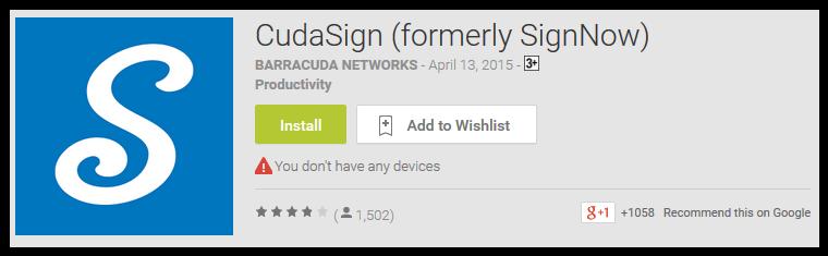CudaSign (formerly SignNow)