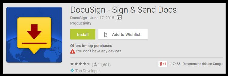 DocuSign - Sign & Send Docs