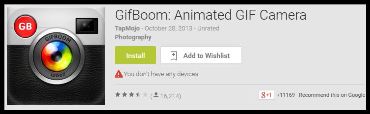 GifBoom'Animated GIF Camera