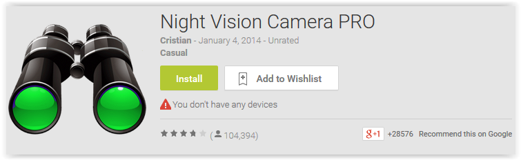 Night Vision Camera PRO