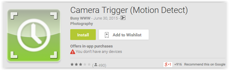 Camera Trigger ( Motion Detect )