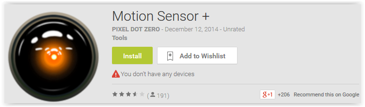 Motion Sensor +
