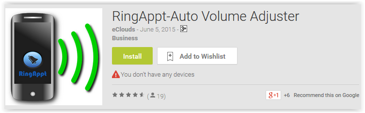 RingAppt-Auto Volume Adjuster