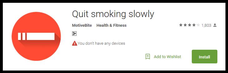 Quit smoking slowly