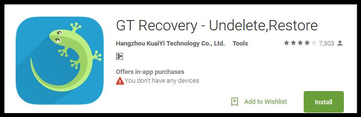 GT Recovery - Undelete, Restore