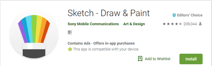 Sketch - Draw & Paint - Android Apps Reviews/Ratings and