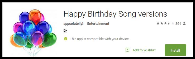 silly happy birthday songs ▷▷ a c i
