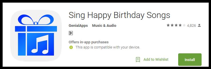 Sing Happy Birthday Songs