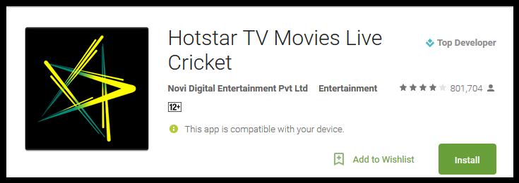 Hotstar TV Movies Live Cricket