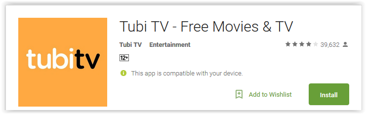 Tubi TV - Free Movies & TV - Android Apps Reviews/Ratings