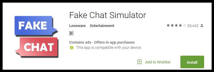 Simulator fake app chat Get Virtual