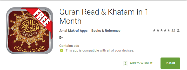 Quran Read & Khatam in 1 Month - Android Apps Reviews