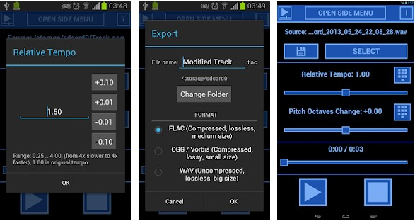 4 Best Music Speed Changer Apps for Android To Slow Down Music